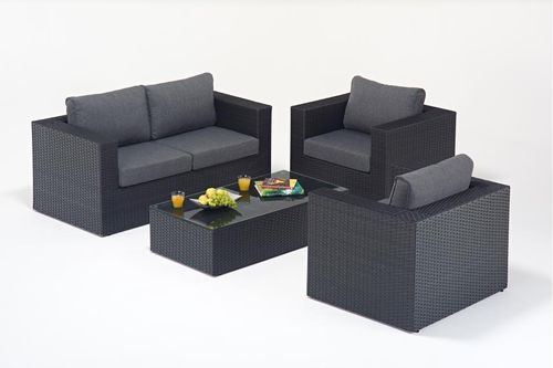 Prestige Black Rattan Small Rattan Sofa set