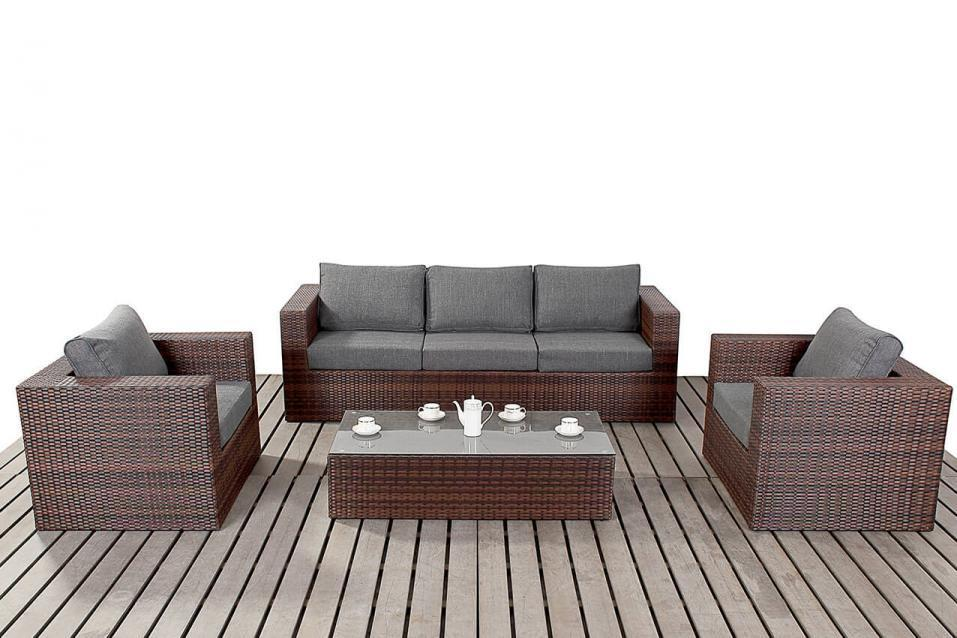 prestige black rattan large rattan sofa set homegenies. Black Bedroom Furniture Sets. Home Design Ideas
