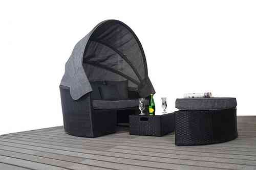 Prestige Large Rattan Daybed in Black