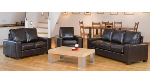 Leather sofa 1+2+3 seater in Black, Brown, Cream, Red