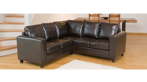 Leather Corner Sofa in Black, Brown, Ivory, Red