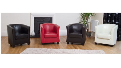 PU Faux Leather Tub Chairs