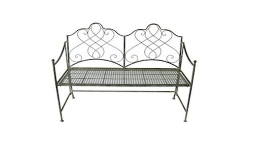 Antique Colour Metal Garden Bench
