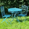 Blue Metal Bistro set