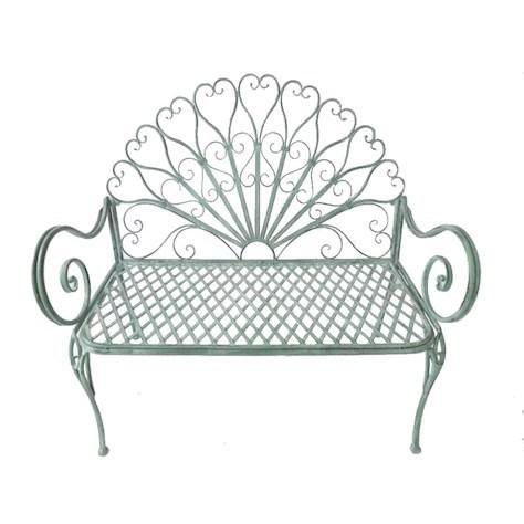 Terrific Green Metal Garden Bench Theyellowbook Wood Chair Design Ideas Theyellowbookinfo