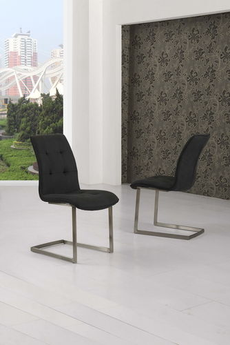 Black Suede Effect Dining Chairs
