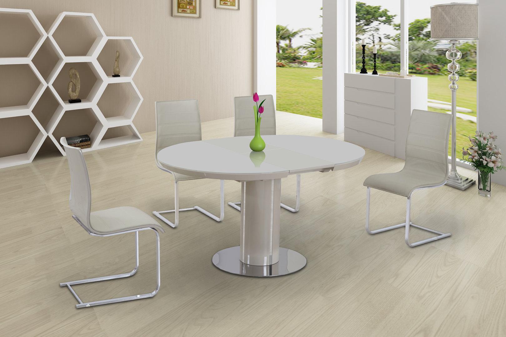 Cream High Gloss Living Room Furniture