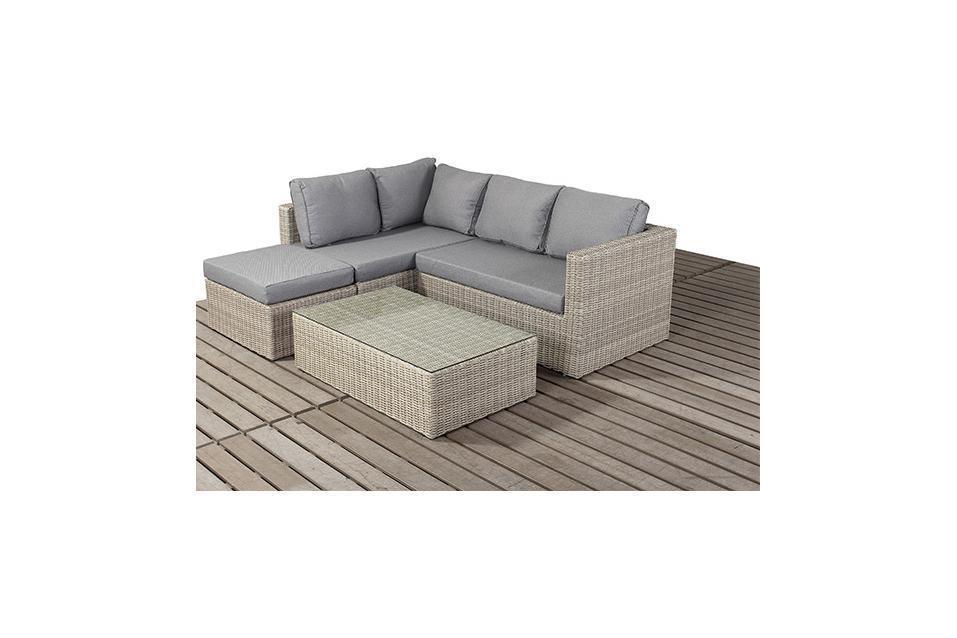 pretty nice be21c 5c1cf Rural Left Small Rattan Corner Sofa Set