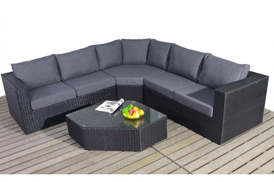 Black rattan corner sofa set brokeasshome com