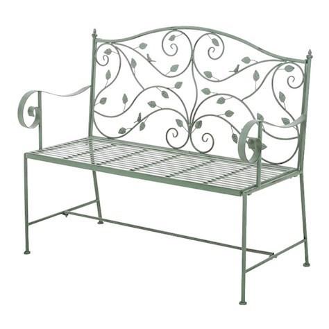 Excellent Rusty Blue Metal Garden Bench Theyellowbook Wood Chair Design Ideas Theyellowbookinfo