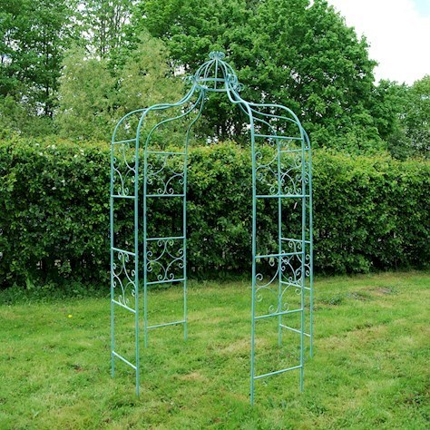 Antique Blue Metal Garden Gazebo