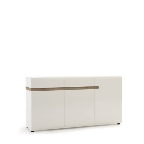 White high gloss sideboard 2 drawer 3 door