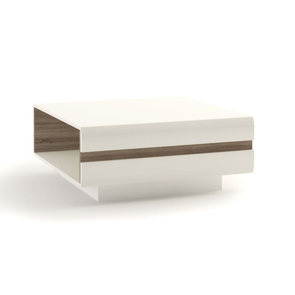 Large white high gloss coffee table. 17 Large ...