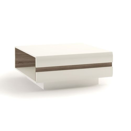 Large white high gloss coffee table