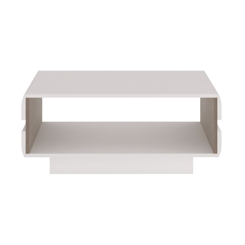 Small White High Gloss Coffee Table Homegenies
