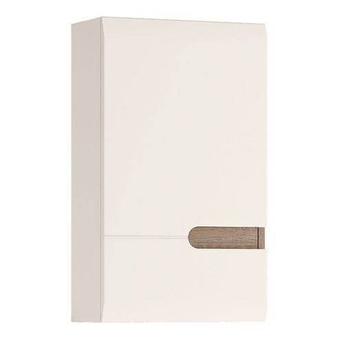 White high gloss LH door wall cupboard