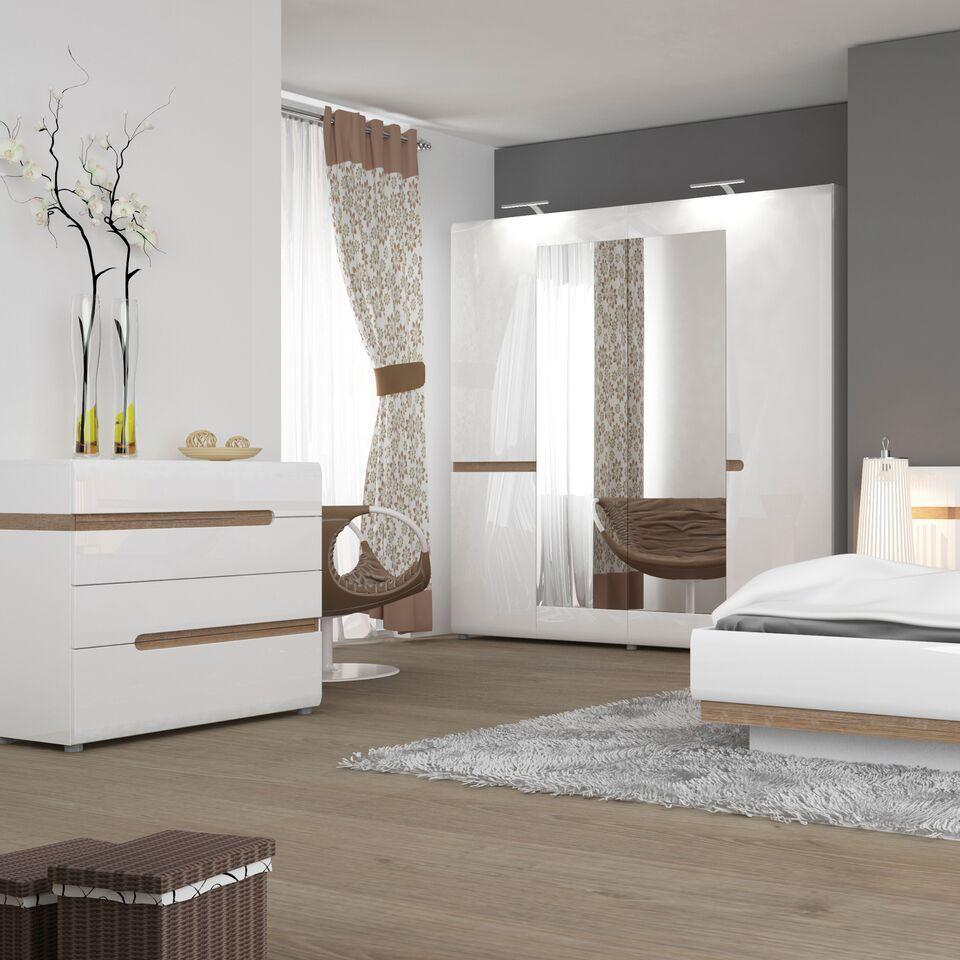 White High Gloss Dressing Table Desk Homegenies