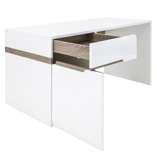 white high gloss dressing table desk