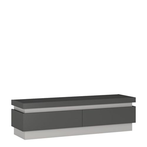Grey high gloss 2 drawers tv cabinet