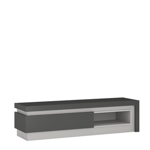 Grey high gloss 1 drawers tv cabinet