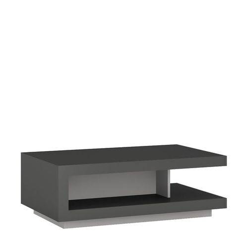 Modern grey high gloss coffee table