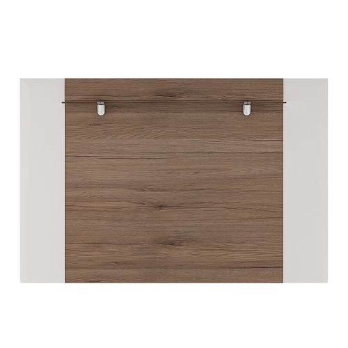 White gloss tv rear wall board with oak effect 190cm