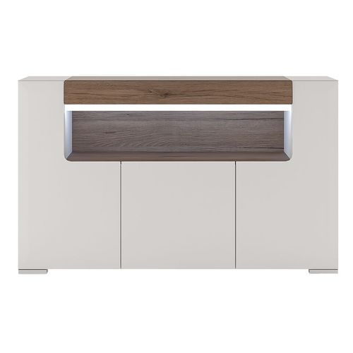 White high gloss 3 door sideboard