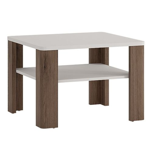 White high gloss coffee table with san remo oak finish