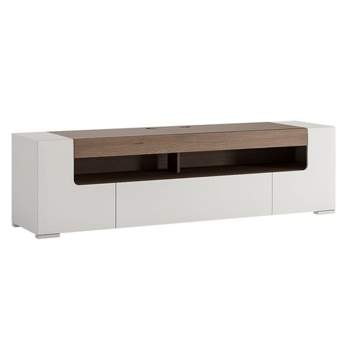 white high gloss 190cm tv unit cabinet