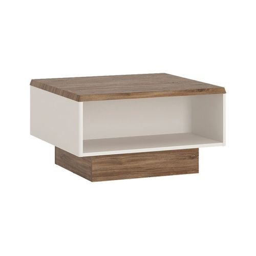 White high gloss with stiling oak finish coffee table