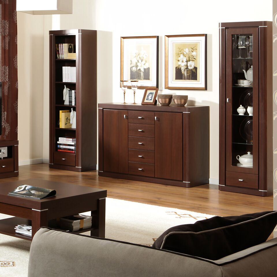 wenge living room furniture wenge 2 door 5 drawer sideboard homegenies 12855