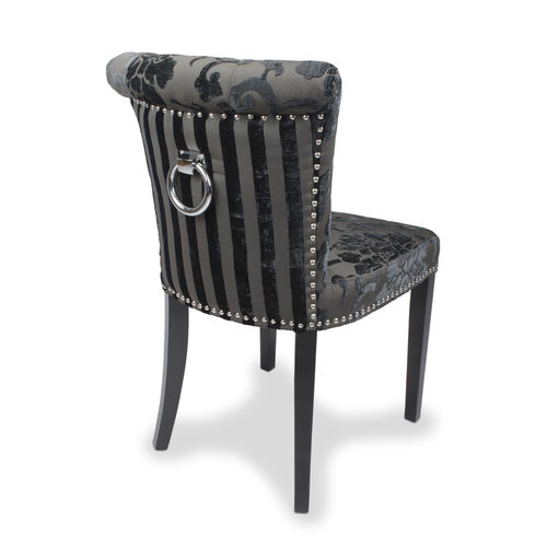 Accent charcoal velvet chairs - Pair