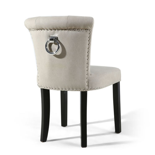 Accent Natural Stonewash Fabric Chairs - Pair