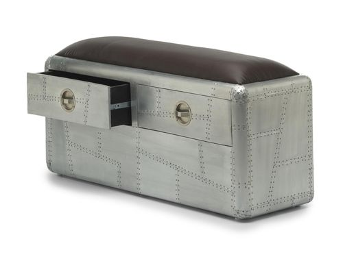 Aluminium furniture 2 Drawer Bench