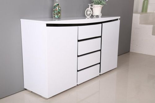 140cm White high gloss sideboard