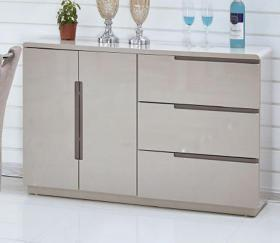 Cappuccino & Champagne High gloss side board