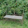 Rusty vintage metal garden bench