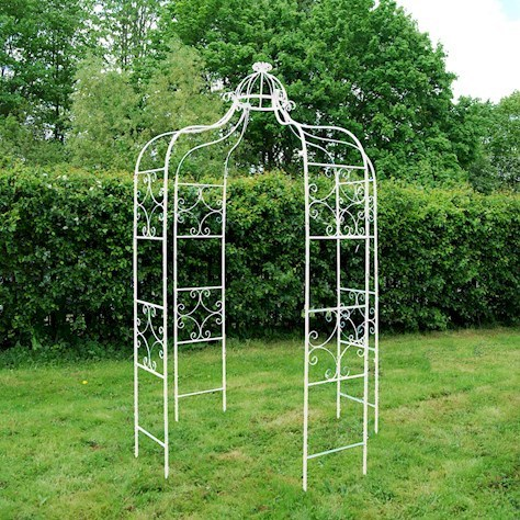 Vintage Cream metal garden gazebo
