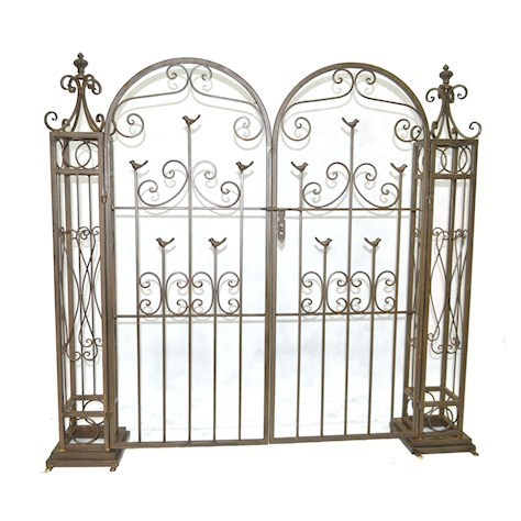 Vintage Brown Rusty metal garden gates