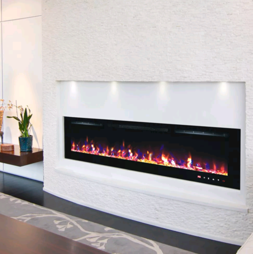 72inch wall mounted electric LED fire