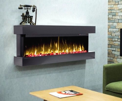 50inch wall mounted mantel electric LED fire in black