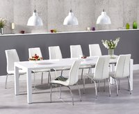 High gloss dining table and 12 chairs