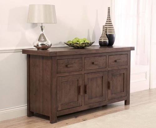 Large solid dark oak sideboard