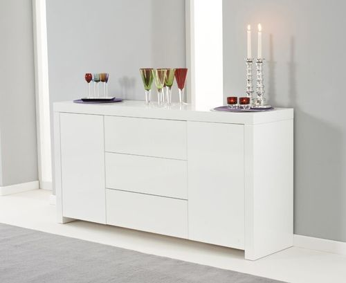 160cm White high gloss sideboard