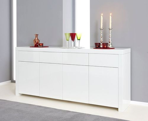 180cm White high gloss sideboard
