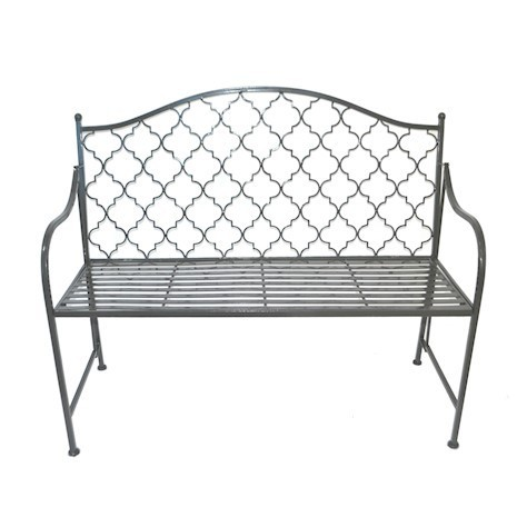 Umbra grey vintage metal garden bench