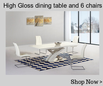 High gloss dining table and 6 chairs