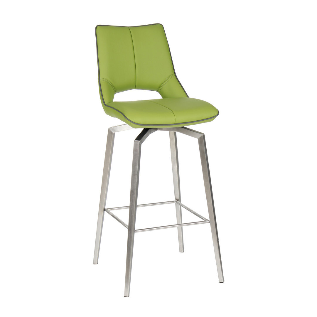 Green_swivel_leather_match_bar_chair_with_stainless_steel_base_and_grey_stitching