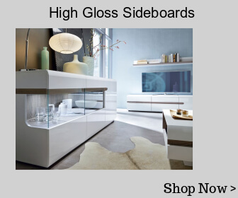 High gloss and glass sideboards